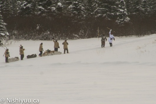 Nishiyuu warriors leaving Whapmagoostui