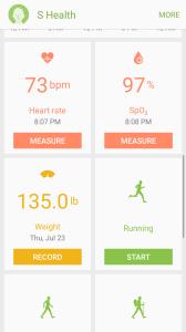 Samsun S Health App