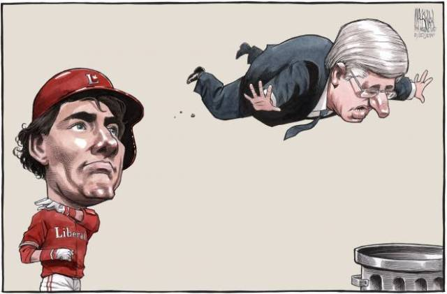 Trudeau Bat Flip - Chronicle Herald Editorial