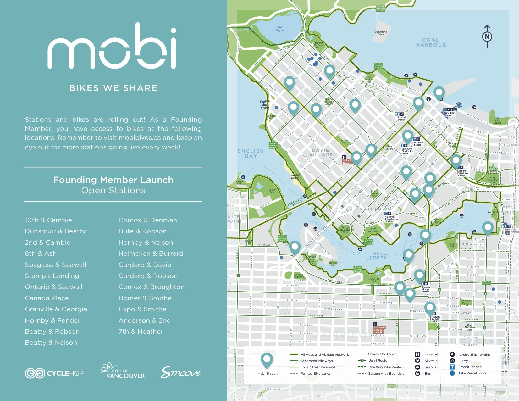 Mobi founding member launch map